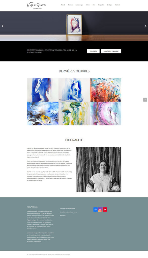 Site artiste peintre